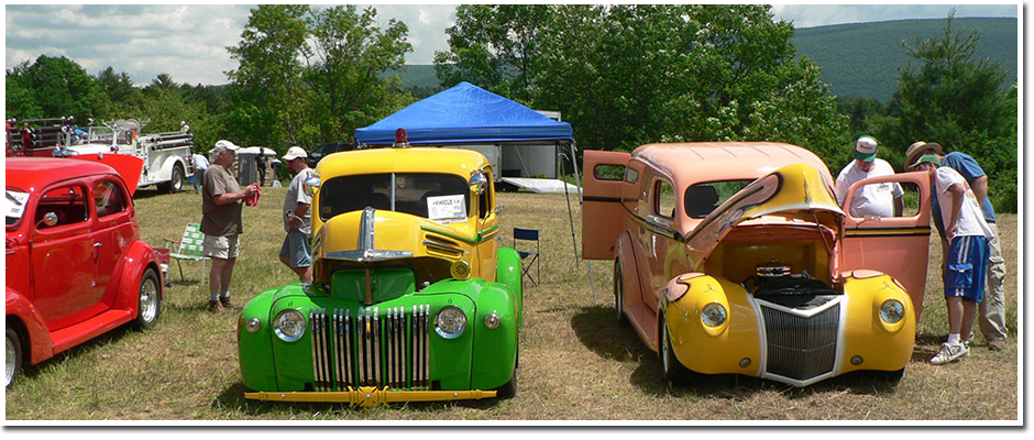 The Annual Car Show in Bennington, Vermont
