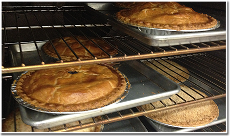 Pies at The Apple Barn & Country Bake Shop