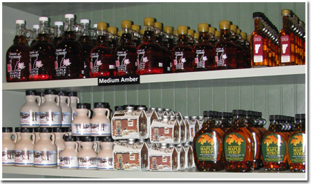 Vermont Maple Syrups at The Apple Barn