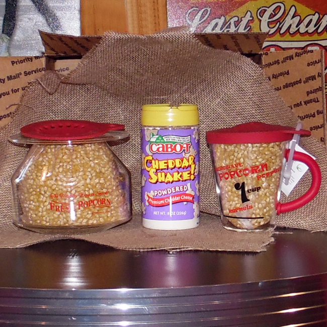 Homemade Popcorn Package